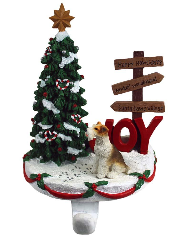 Wire Fox Terrier Stocking Holder Hanger