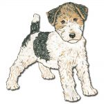Wire Fox Terrier Wooden Magnet