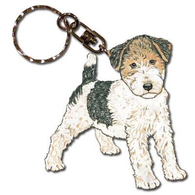 wire_fox_terrier_wooden_keychain