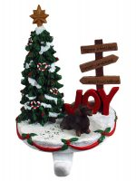 Wirehair Dachshund Stocking Holder Hanger