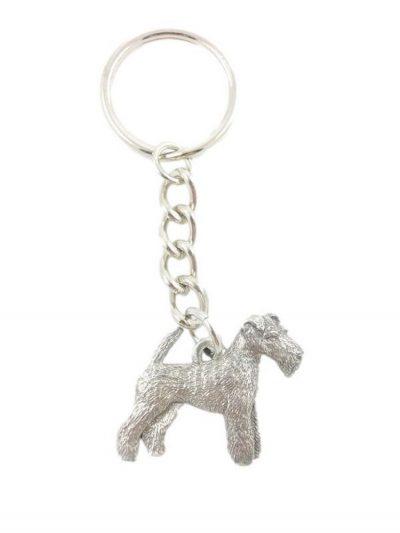 Wirehair Fox Terrier Keychain Pewter