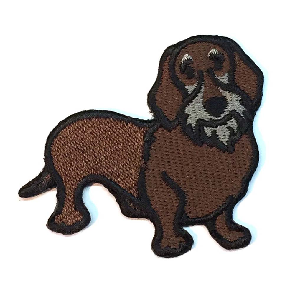 Wirehaired Dachshund Iron on Embroidered Patch
