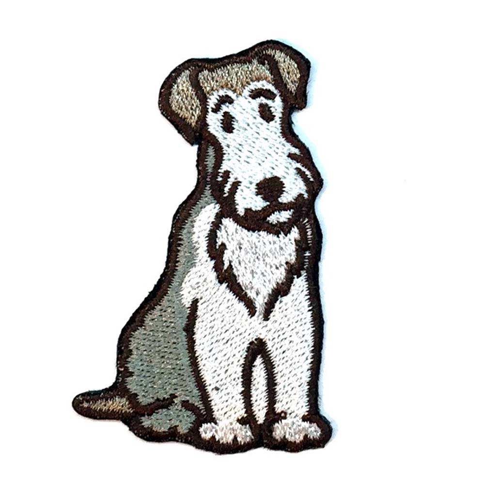 Wirehaired Fox Terrier Iron on Embroidered Patch