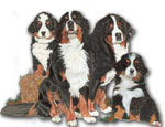 Wooden Dog Magnets
