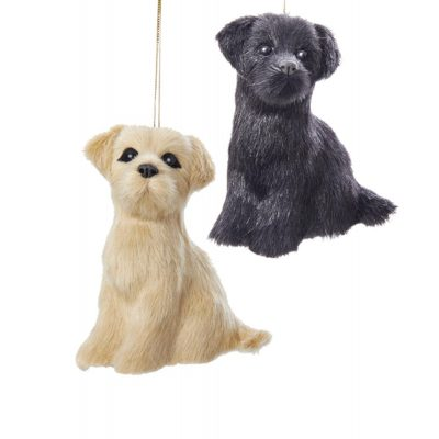 Yellow Labrador Plush Ornament 4 Inches 1