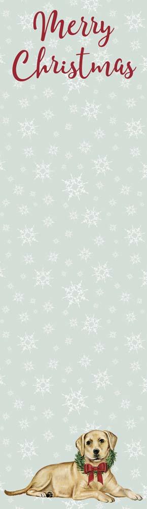 Merry Christmas Yellow Lab List Pad