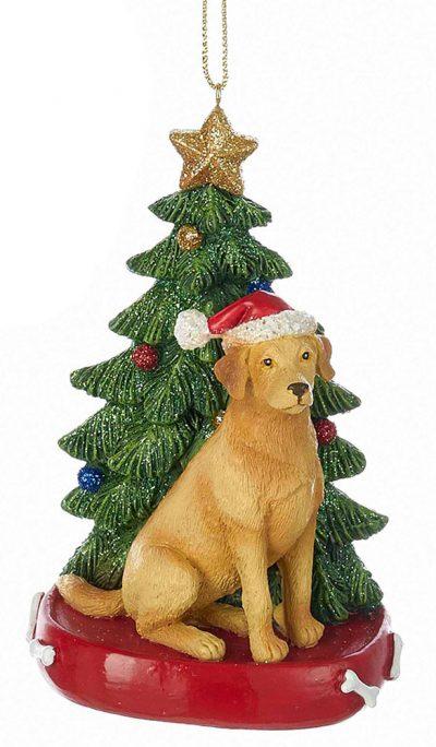 Yellow Lab Christmas Tree Ornament