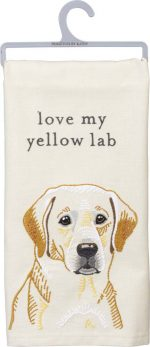 Yellow Lab Kitchen Dish Towel By Kathy
