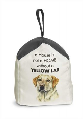 Yellow Lab Door Stopper 5 X 6 In. 2 lbs. - A House is Not a Home
