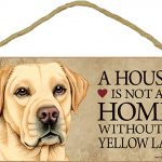 Yellow Lab Wood Dog Sign Wall Plaque Photo Display 5 x 10 + Bonus Coaster 1