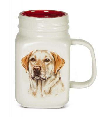 Yellow Lab 21 Oz. Ceramic Mug Mason Jar - All You Need Is Love