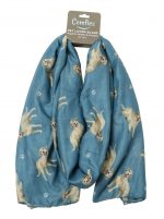 Yellow Lab Scarf -Lightweight Cotton Polyester