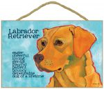 Yellow Lab Characteristics Indoor Sign
