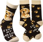 I Love My Yellow Lab Socks By Kathy