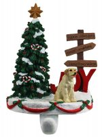 Yellow Lab Stocking Holder Hanger