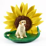 Yellow Lab Sunflower Figurine