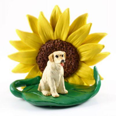 Yellow Lab Sunflower Figurine
