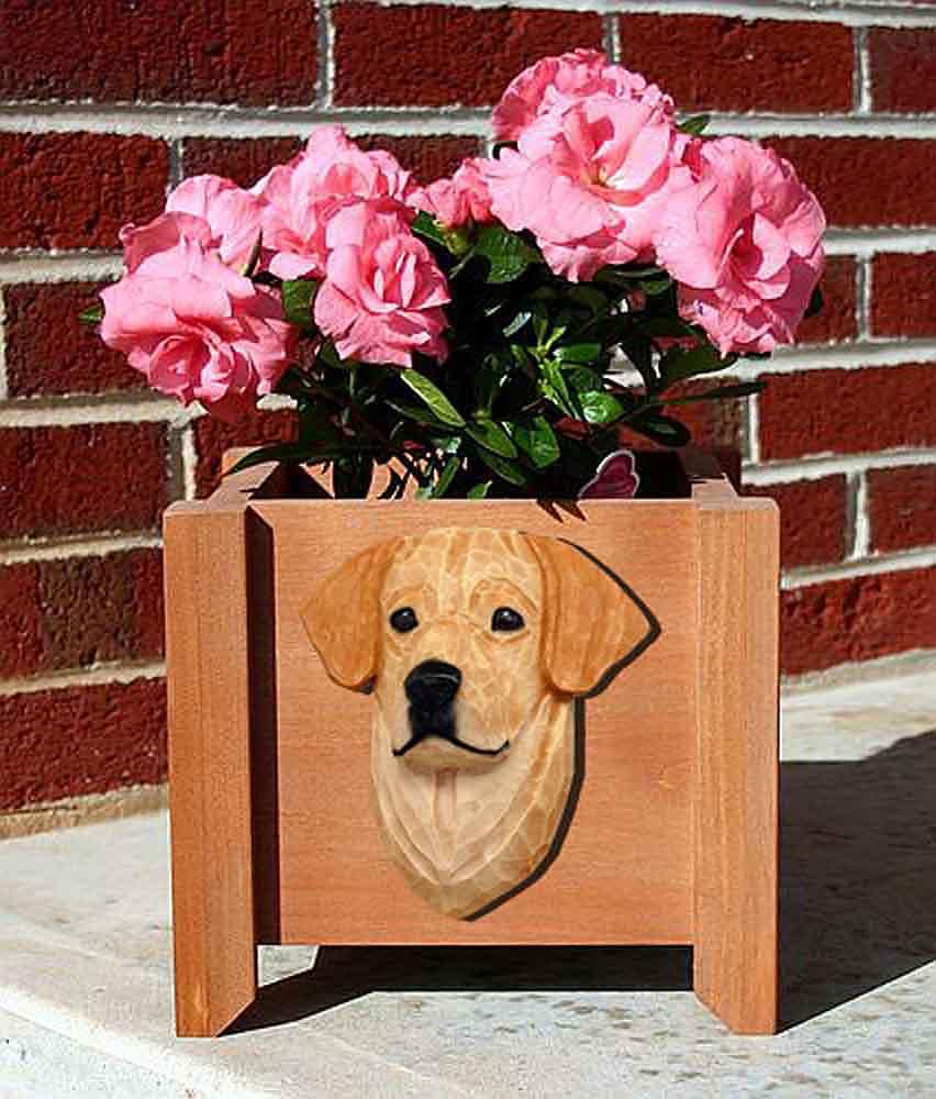 Yellow Labrador Planter Flower Pot