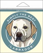 Yellow Labrador Car Magnet 4x4""