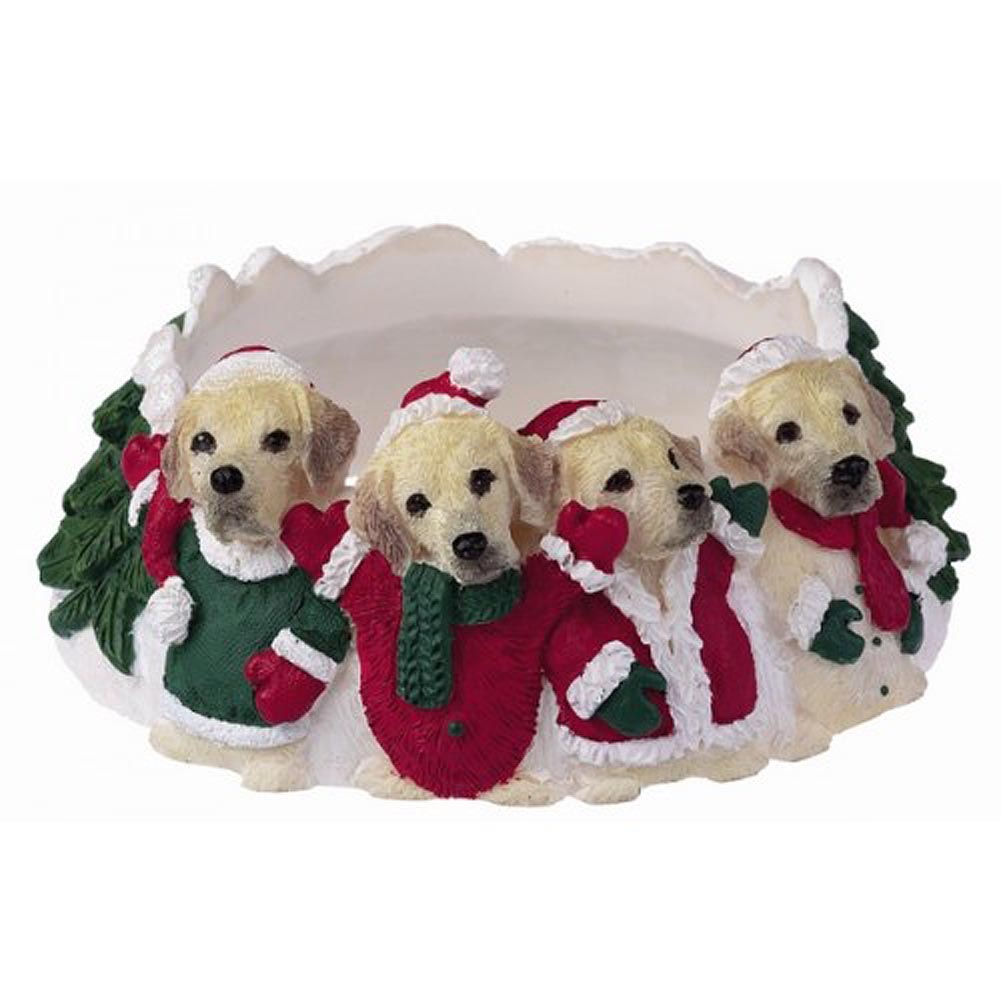 Yellow Labrador Holiday Candle Topper Ring