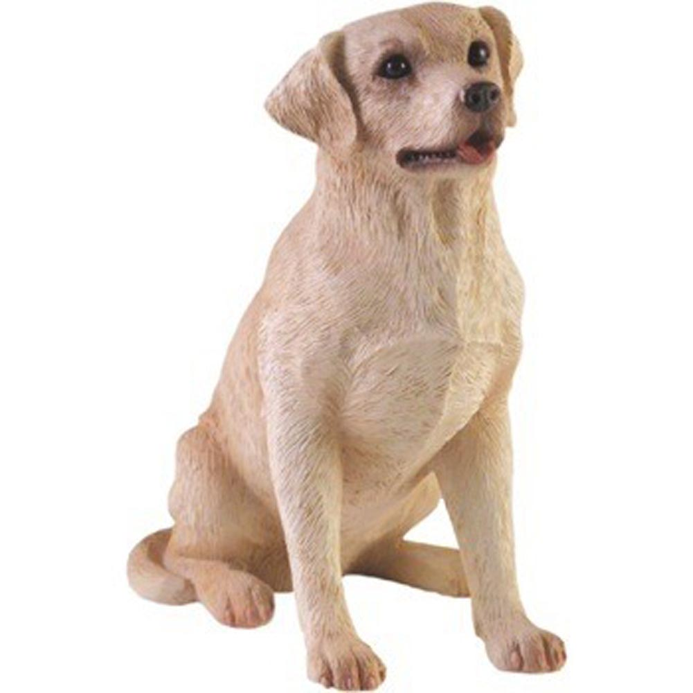 Yellow Labrador Figurine Hand Painted - Sandicast