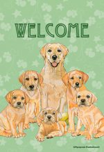Yellow Labrador Garden Flag 12.5 x 18 in