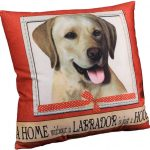 Yellow Labrador Pillow 16×16 Polyester 1