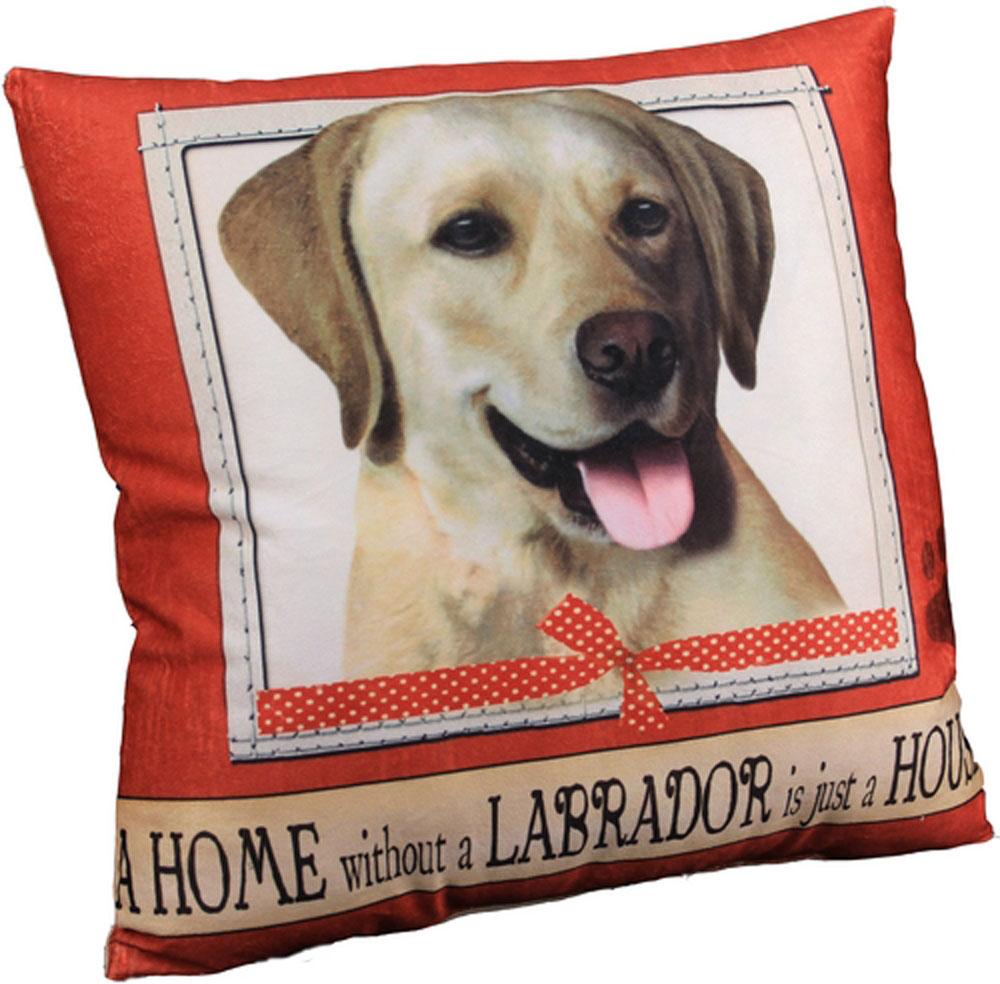 Yellow Labrador Pillow 16x16 Polyester
