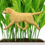 Yellow Lab Figure Attached to Stake to be Placed in Ground or Garden