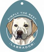 Yellow Labrador Sticker 4x4""