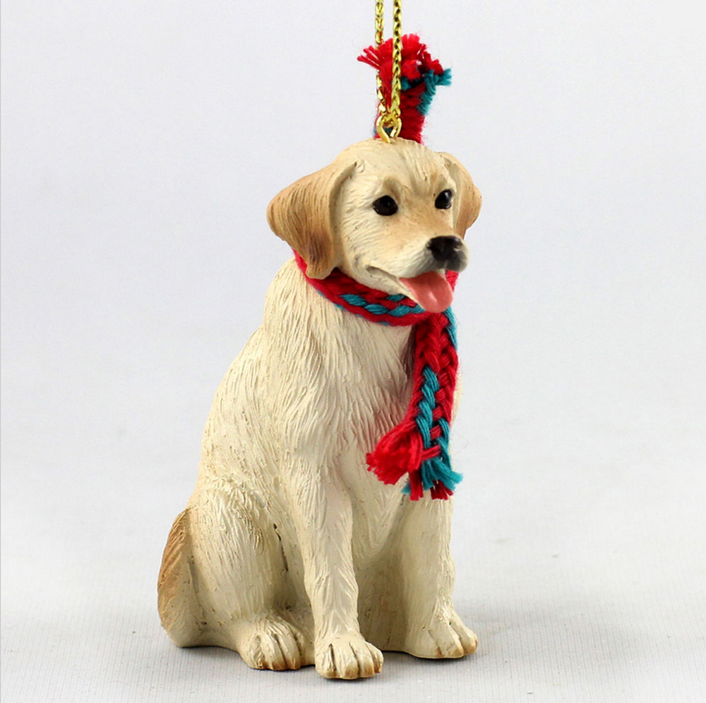 yellow labrador christmas scarf ornament - Labrador Outdoor Christmas Decoration