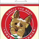 Yorkshire Terrier Yorkie Car Magnet 4×4″ 1