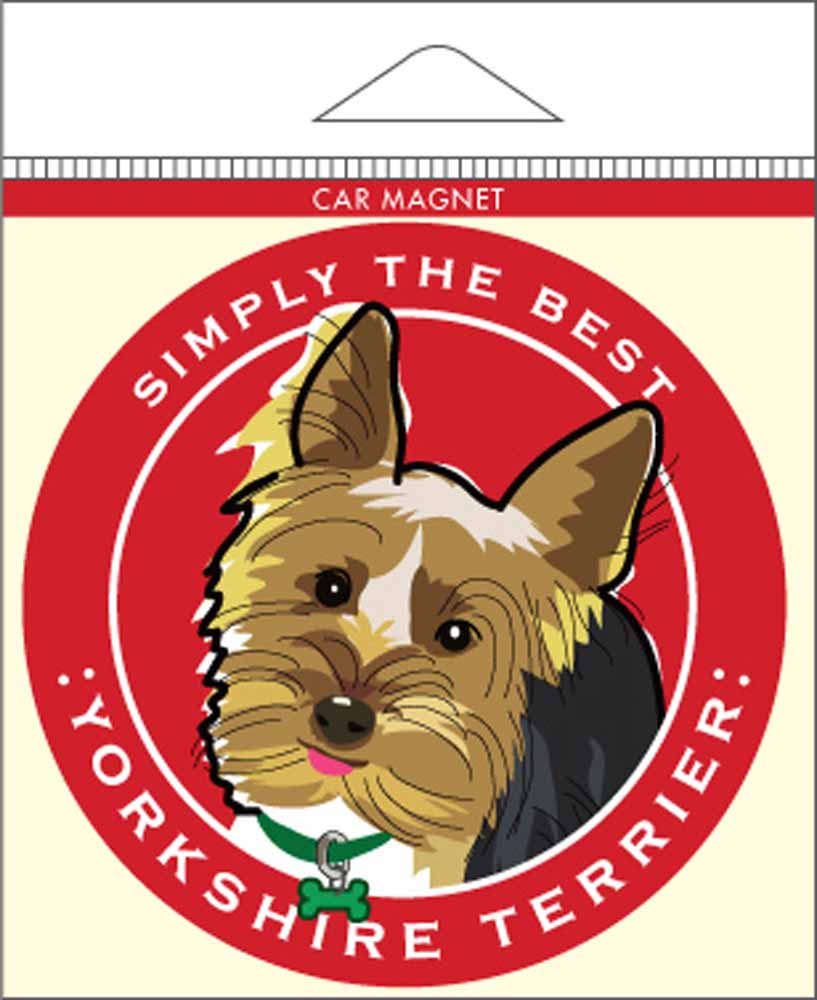 Yorkshire Terrier Yorkie Car Magnet 4x4""