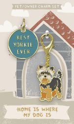 Yorkie Collar Charm and Keychain Set