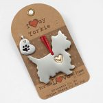 Yorkie Holiday Ornament & Collar Charm Set
