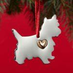 Yorkie Holiday Ornament & Collar Charm Set 2