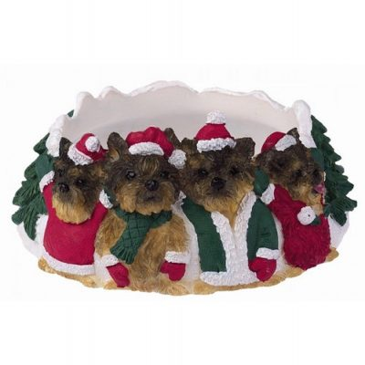 Yorkie Holiday Candle Topper Ring 1