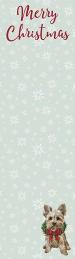 Merry Christmas Yorkie List Pad