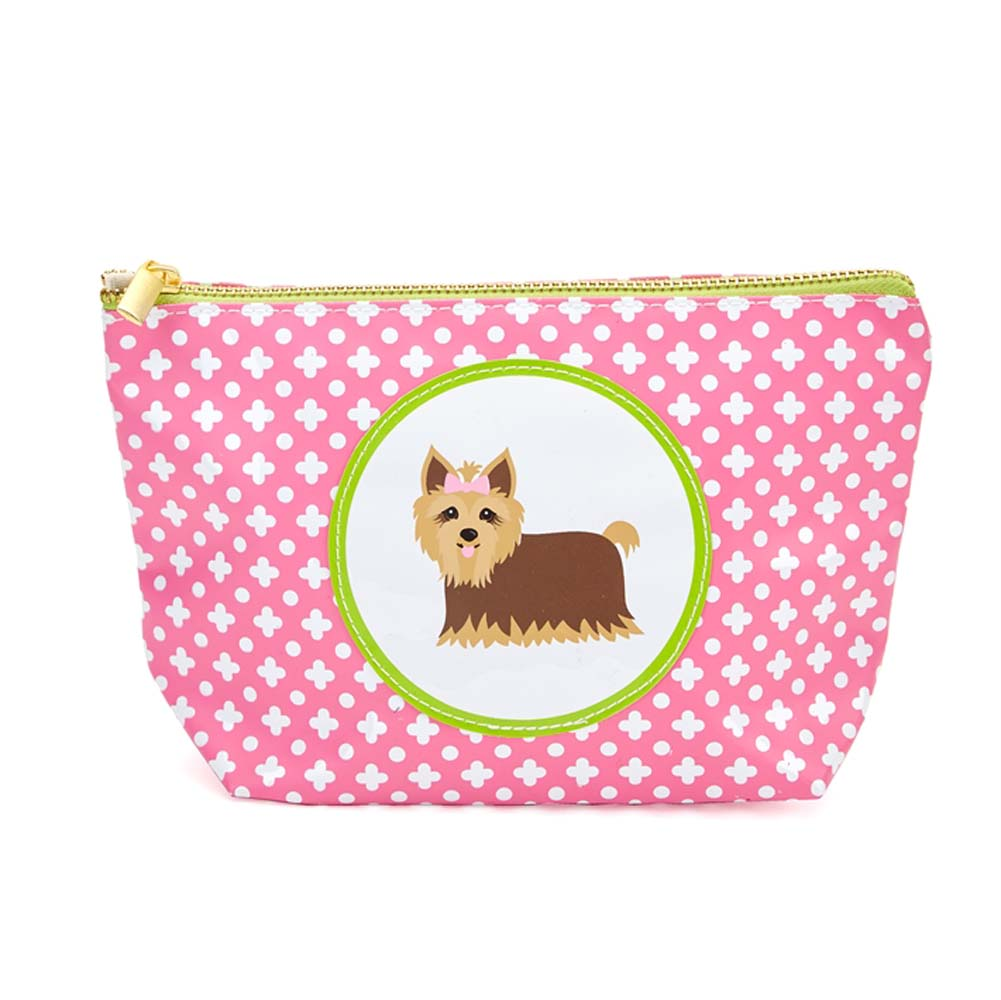 Yorkie Zippered Makeup Travel Bag