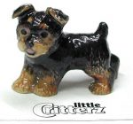 Yorkie Hand Painted Porcelain Miniature Figurine