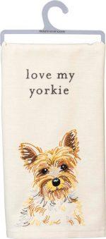 Yorkie Kitchen Dish Towel By Kathy