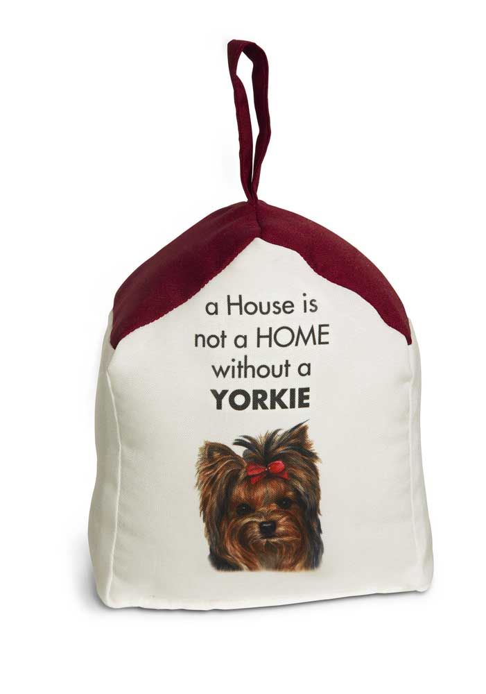 Yorkie Door Stopper 5 X 6 In. 2 lbs. - A House is Not a Home