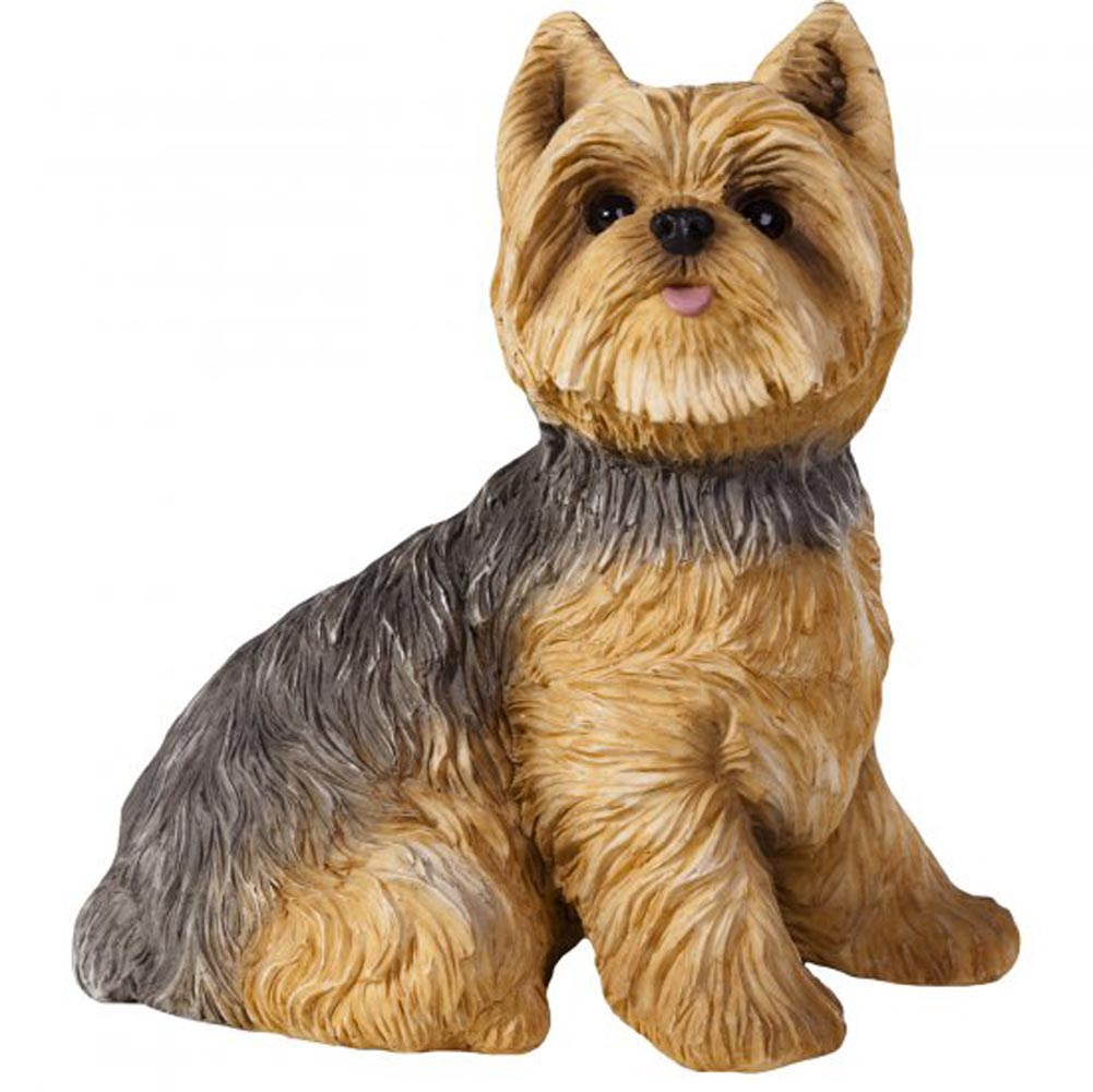 Yorkie Figurine Hand Painted Sandicast