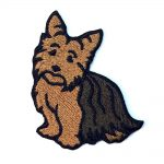 Yorkie Iron on Embroidered Patch