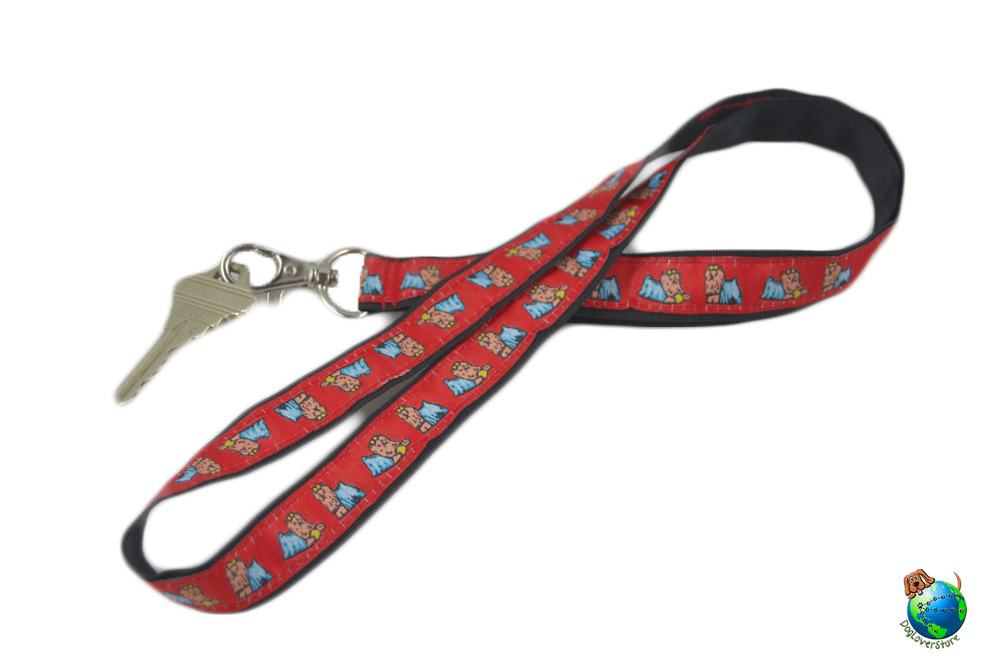 Yorkie Lanyard Key Holder Badge Holder