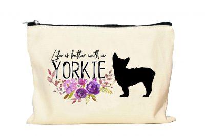 Yorkie Makeup bag