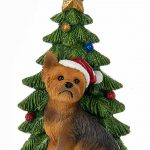 Yorkie Christmas Tree Ornament 1