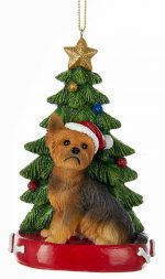Yorkie Christmas Tree Ornament