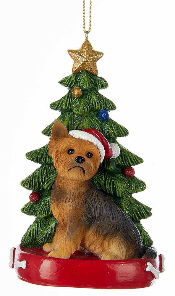 Yorkie Christmas Tree Ornament -