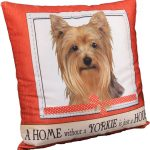 Yorkie Pillow 16×16 Polyester 1